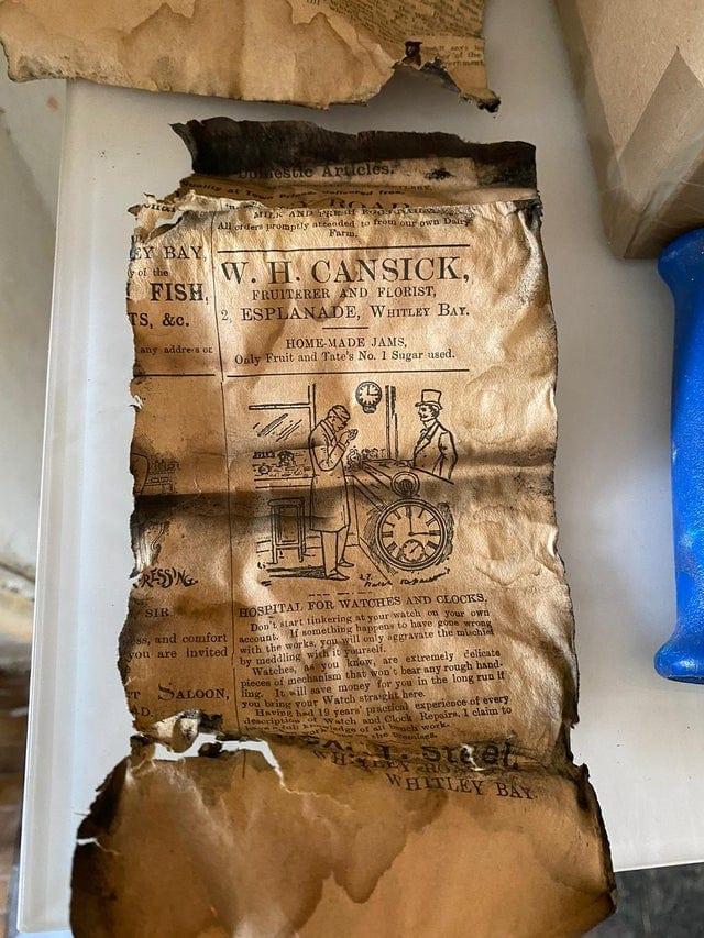 Обрывок газеты, которой 117 лет