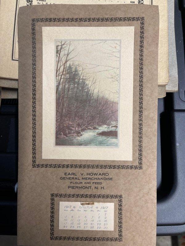 Я нашёл календарь 1917 года с донацистской свастикой в качестве окаймления
