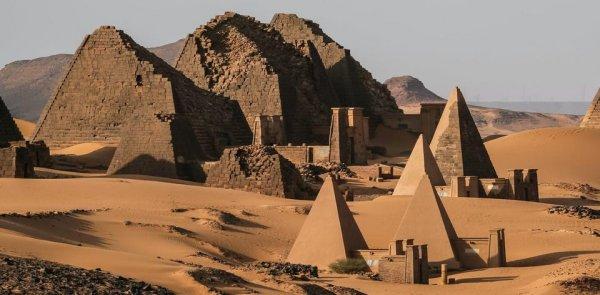 В Судане сохранилось более 200 древних пирамид, которым около 5000 лет
