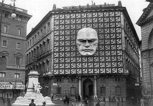 Так выглядел устрашающий дизайн штаб-квартиры Бенито Муссолини в Риме