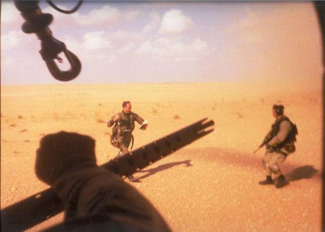Спасение пилота сбитого истребителя F-14 американским спецназом. Операция «Буря в пустыне». 1991 год.