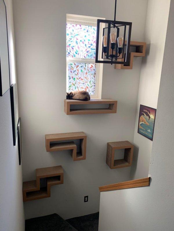 Минималистичная и компактная башня для кота