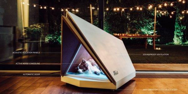 Собачья будка с шумоподавлением, которая может защитить вашего пёсика во время фейерверков или грозы