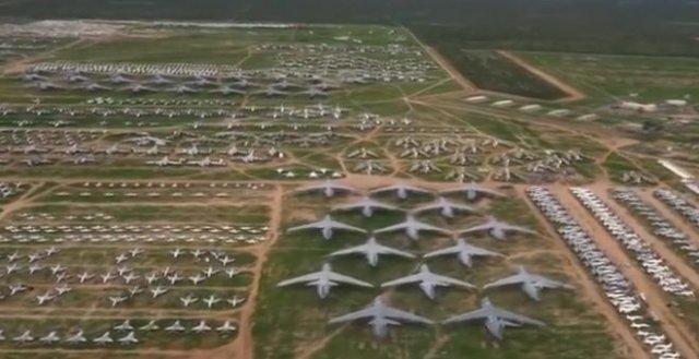 """Крупнейшее """"кладбище"""" авиационной техники"""