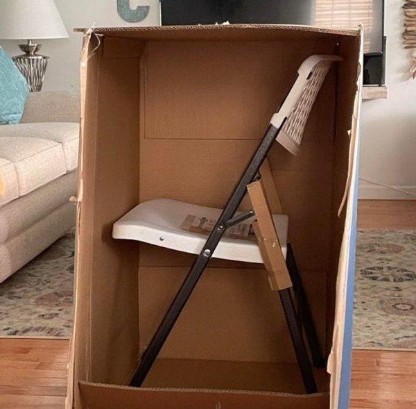 Вот так мне прислали складной стул