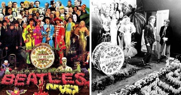 Закадровое фото создания обложки ещё одного альбома The Beatles «Sgt. Pepper's Lonely Hearts Club Band»