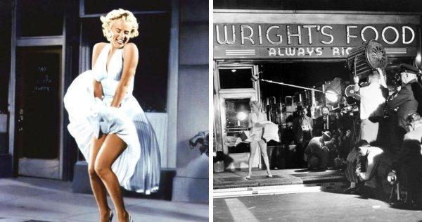 Легендарный кадр с Мерилин Монро на съёмках фильма «Зуд седьмого года» (1955)