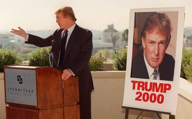 Дональд Трамп выставляет свою кандидатуру на выборы Президента США, 1999 год.