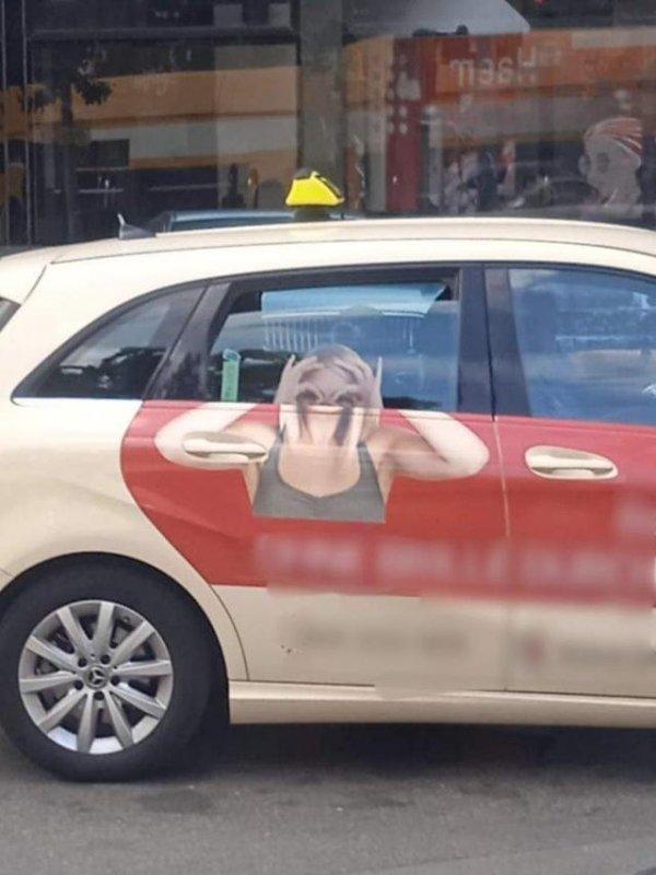 Лица, напечатанные на окнах машин, никогда не работают так, как надо