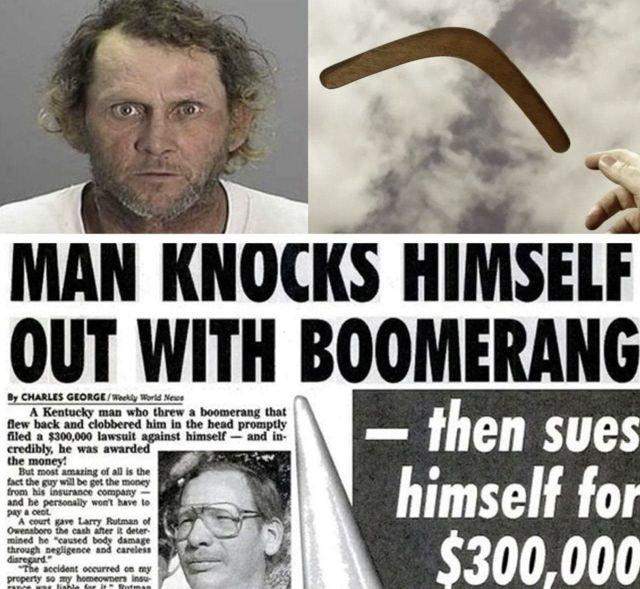 В 1996 году американец Ларри Рутман кинул бумеранг
