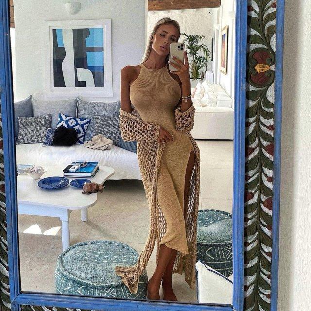Новая девушка Тимати - блогер Саша Дони (sashadony)  в желтом платье