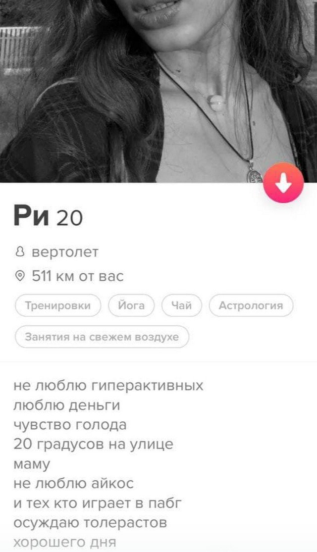 Анкеты людей из приложения для знакомств