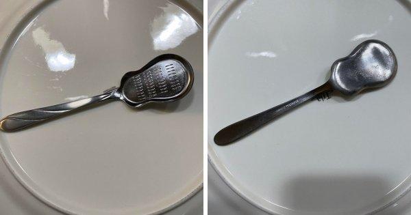 13-сантиметровая длинная металлическая плоская ложка