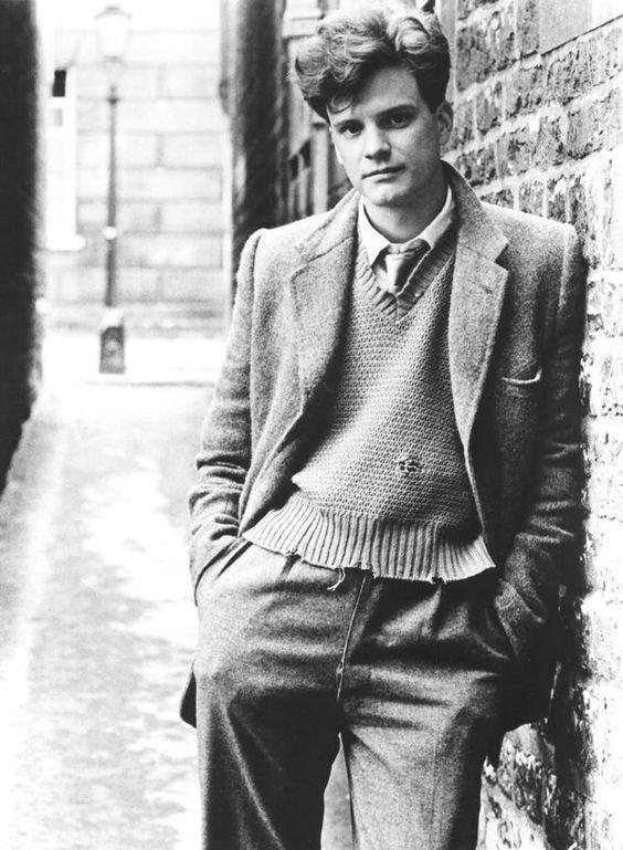 Колин Фёрт в 1980 году