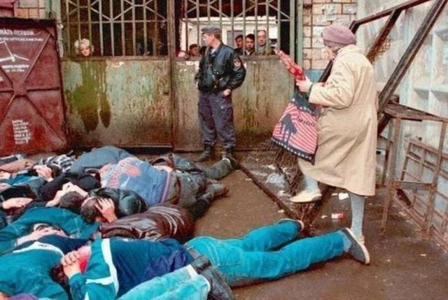 Типичная ситуация на рынке, Россия, 1994 год.