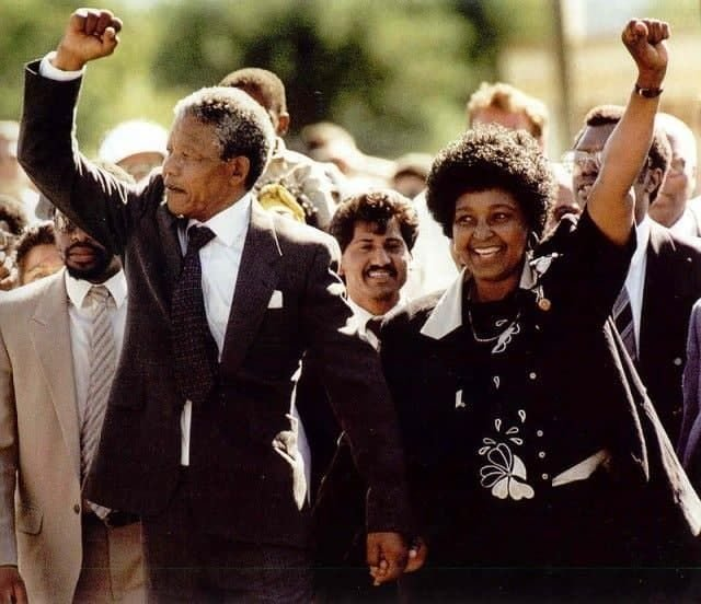 Нельсон Мандела со своей женой Винни