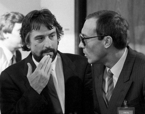Роберт Де Ниро и Олег Янковский на Московском международном кинофестивале, 1987 год