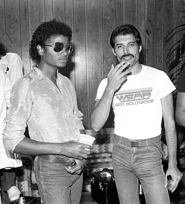 Майкл Джексон и Фредди Меркьюри, 1983 год