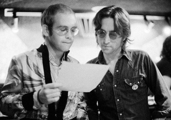 Элтон Джон и Джон Леннон, 1974 год