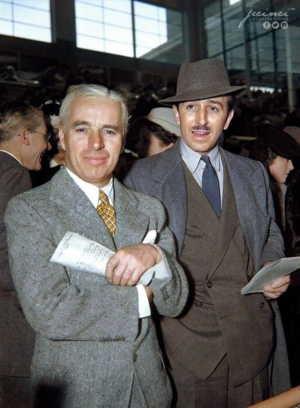 Чарли Чаплин и Уолт Дисней, 1939 год