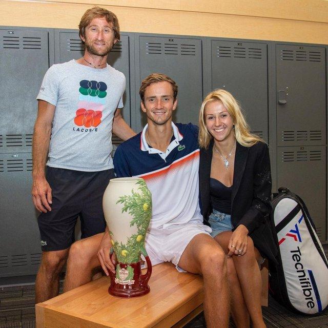 Жена Даниила Медведева - Дарья Медведва - которая вдохновила его на победу в US Open