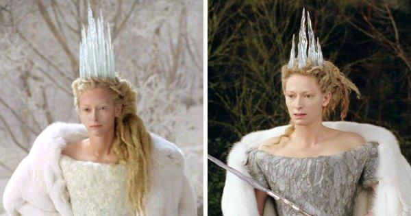 В фильме «Хроники Нарнии: Лев, колдунья и волшебный шкаф» корона злой королевы постепенно тает со временем, так как её власть слабеет