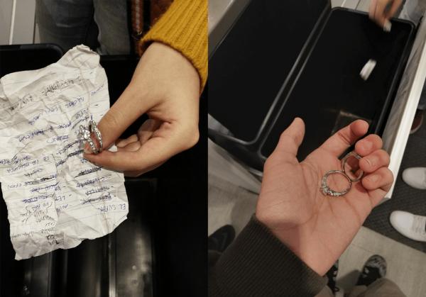 Мы пошли в IKEA и решили проверить, выкидывают ли что-нибудь в мусорные корзины, выставленные на продажу
