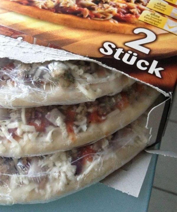 Неожиданный бонус: 3 пиццы вместо двух