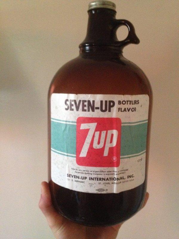 Ретробутылочка с концентратом Seven-Up