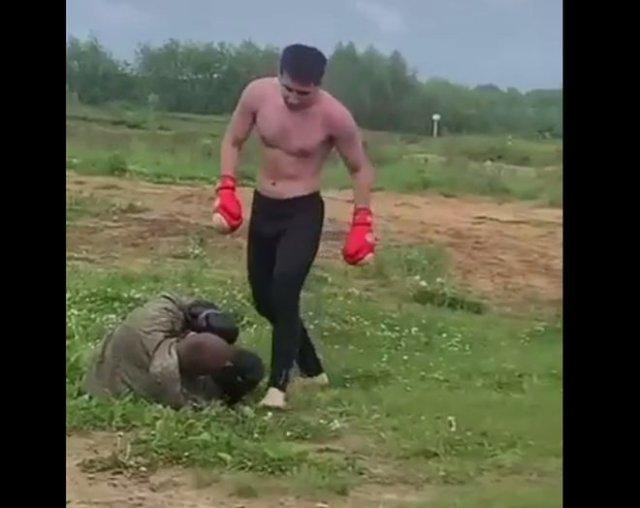 Дагестанец публикует в Instagram видео о том, как издевается над сослуживцами