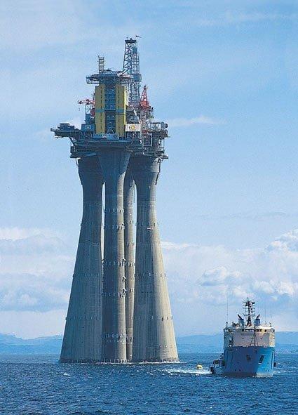 Норвежская нефтяная платформа «Тролль»