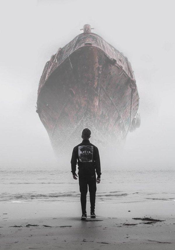 На днях в моем городе был туман, и я запечатлел эту ужасающую сцену