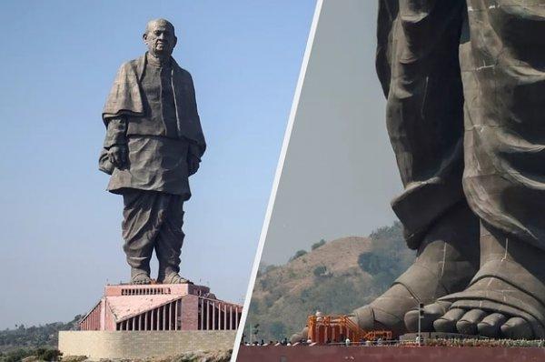 Статуя Единства в Индии, 182 метра в высоту