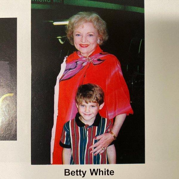С актрисой Бетти Уайт