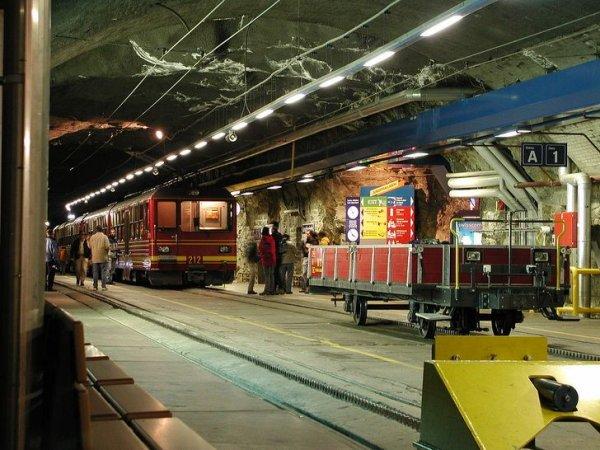 Железнодорожная станция Юнгфрауйох, расположенная на высоте 3 450 метров, — самая высокая железнодорожная станция в Европе