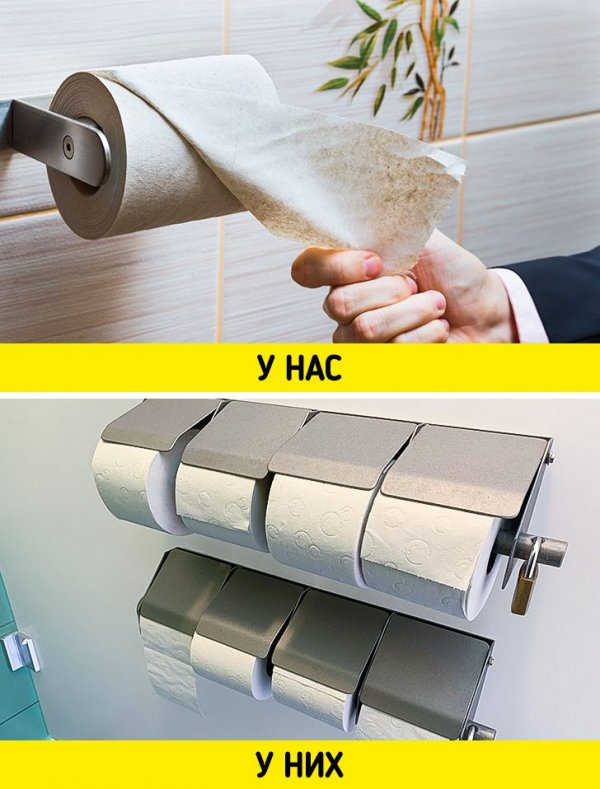 В придорожных туалетах не скупятся на туалетную бумагу