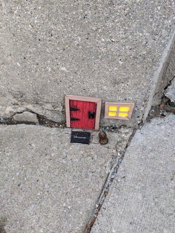 Тайный вход. Для мышек?