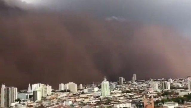 Песчаная буря в Сан-Паулу