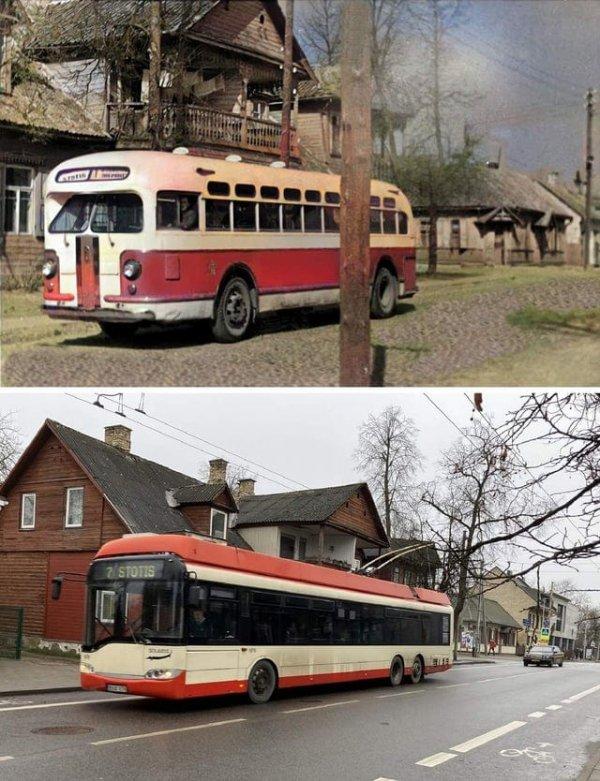 1955 и 2021 годы. Вильнюс, Литва