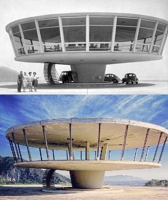 Заброшенный ресторан в Петрополисе, Бразилия (1960-е и 2013 годы)