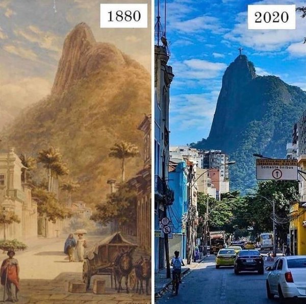 Рио-де-Жанейро, 1880 и 2020 годы