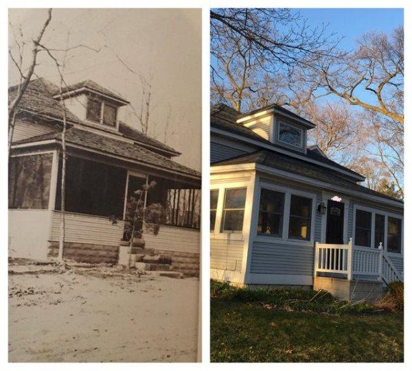 Мой дом около 100 лет назад и вчера