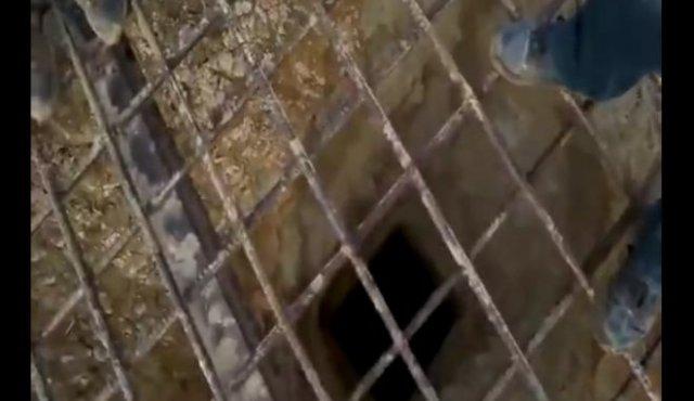 """Что будет, если бросить """"коктейль Молотова"""" в заброшенную шахту"""