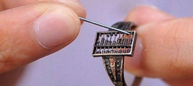 300-летнее кольцо-счёты из Китая