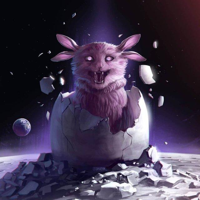 Лунтик из мультсериала «Лунтик и его друзья»