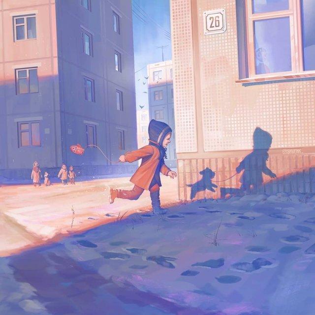 Девочка из мультфильма «Варежка»