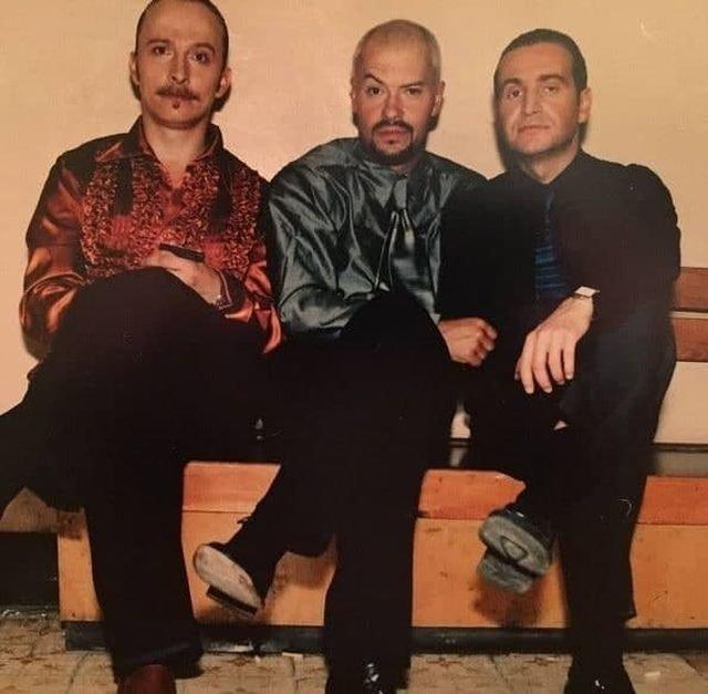 Ивaн Oxлобыстин, Федop Бондарчук и Леонид Aгутин, 1990-e.