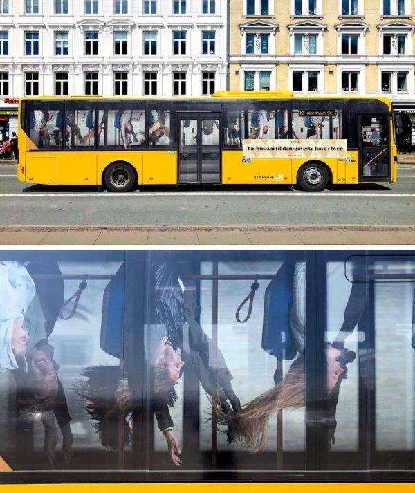 Необычная реклама парка развлечений в Копенгагене