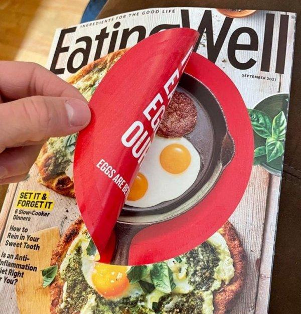 Отрывная реклама на кулинарном журнале