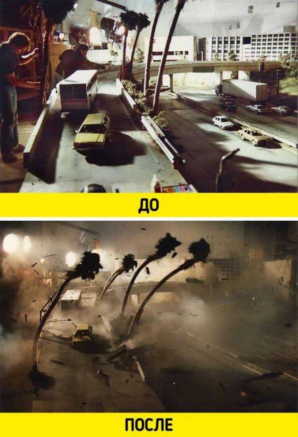 Одна из многочисленных сцен со взрывом во второй части «Терминатора» снималась так